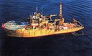 DSV Seaway Pelican in Diving operation.